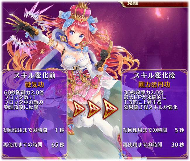 武王姫アリスのスキル覚醒前と後の比較です!