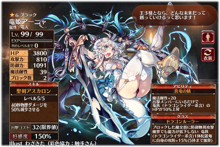 アーニャ、第二覚醒その2はドラゴンルーラーです。