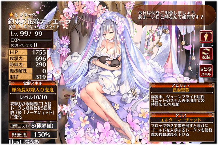 約束の花嫁ディエーラの第一覚醒クラスはエルダーマーチャントに進化します。