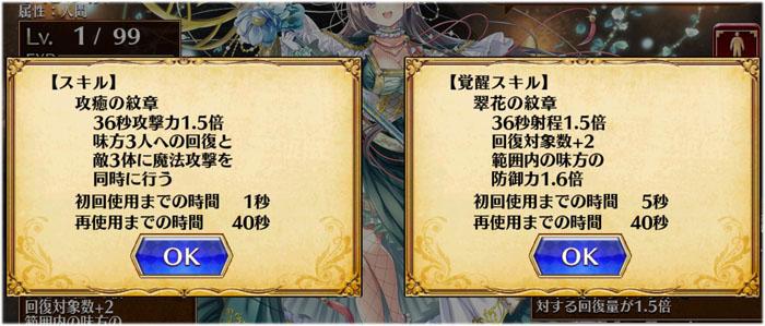 翠花の領主メアリのスキル覚醒後と前の比較図はこちらです。